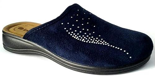 Inblu pantofole ciabatte invernali da donna art. RA-61 blu (38 ... 9800eb295a8
