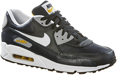 Nike Men's Air Max Lunar 90 Trainers Blue (Obsidian/White/Wolf Grey/Gold Ld) sale new styles cheap online store XTrkC4BIA