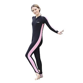 Surf Deportes Traje Mujer Trajes de Larga Traje 1mm Hombre Neopreno Manga para Snorkel Buceo Aire Natación Poliéster Adultos de Libre baño al acuáticos de q7xXPwU