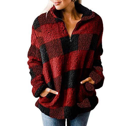 1/2 Zip Pullover Knitted Fleece - 6