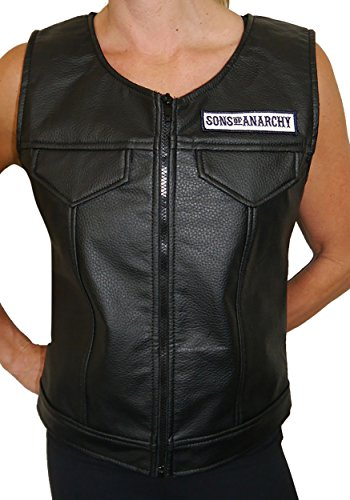 Women's Sons of Anarchy Faux Leather Vest X-Large