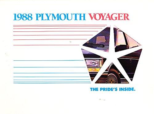 Plymouth Voyager Sales Brochure - 1988 Plymouth Voyager Van Original Sales Brochure Catalog