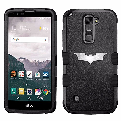 for LG G Stylo 2 Plus (MS550), Hard+Rubber Dual Layer Hybrid Heavy-Duty Rugged Armor Cover Case - Batman #S at Gotham City Store