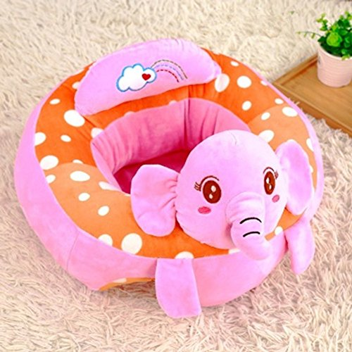 Infant Baby Sitting Chair Support,Soft Baby Support Seat Chair,Portable Dining Chair Support with Toys Attachment Safety Seat for Baby (Pink Elephant) by KELAI & craft art decor