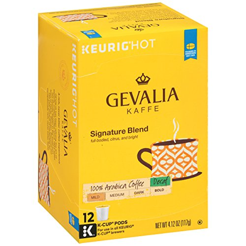 Gevalia Signature Blend DECAF K-Cup Packs, 12 count (Pack of 6) ()