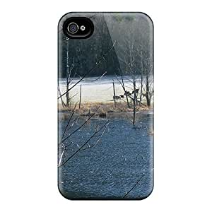 MDCH Case Cover Protector Specially Made For Iphone 4/4s Cows In Frosty Field