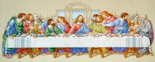 Janlynn Cross Stitch Kit, 10-Inch by 26-1/2-Inch, The Last Supper ()
