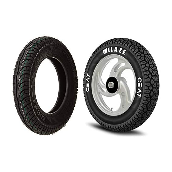 Ceat Zoom D P90/100 - 10 Tube-Type Scooter Tyre & Ceat Milaze P90/100 - 10 Tube-Type Scooter Tyre for Honda Activa