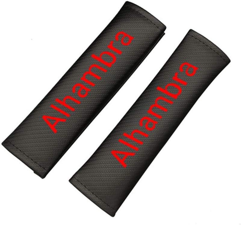 TYMDL 2 St/ück Karbonfaser Auto Sicherheitsgurt Schulter-Pads Gurtpolster f/ür Seat Alhambra All Models Rennsport Styling Schulter Gurtschutz Abdeckung