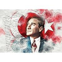 Puzz - Atatürk ve Bayrak Yapboz, 68 x 48 cm, 1000 Parça (Keskin Color 260393-99)