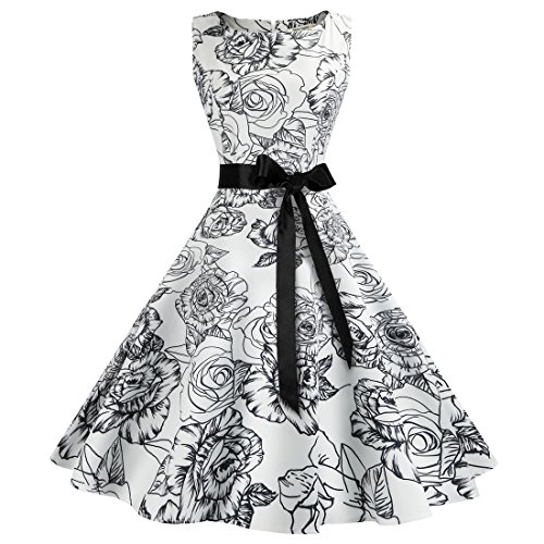 40s black tie dress - 4