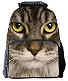 Rosing House Outdoor 3D Animal laptop Casual Cute Backpack (Cat)