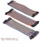 AZDelivery ⭐⭐⭐⭐⭐ Jumper Wire Cavetti Cable 120pcs Cavi per Arduino Breadboard Uno R3, Raspberry Pi