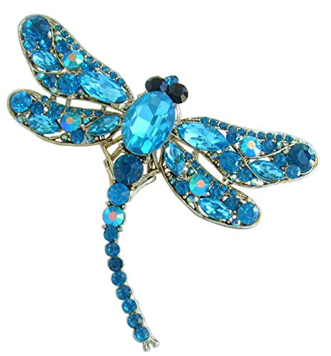 Austrian Crystal Dragonfly Pin - Sindary Pretty 3.74