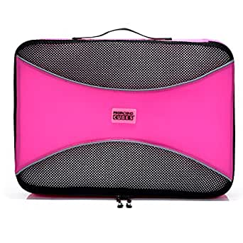 PRO Packing Cubes Lightweight Travel - Packing Cube Set - Organizers and Compression Pouches System for Carry-on Luggage, Suitcase and Backpacking Accessories (Medium x1, Gum Pink)