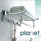 Planet Platinum Steel Folding Towel Rack (Silver, Pack of 2)