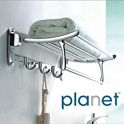 Planet Platinum High Grade Stainless Steel Folding Towel Rack (2 feet long)