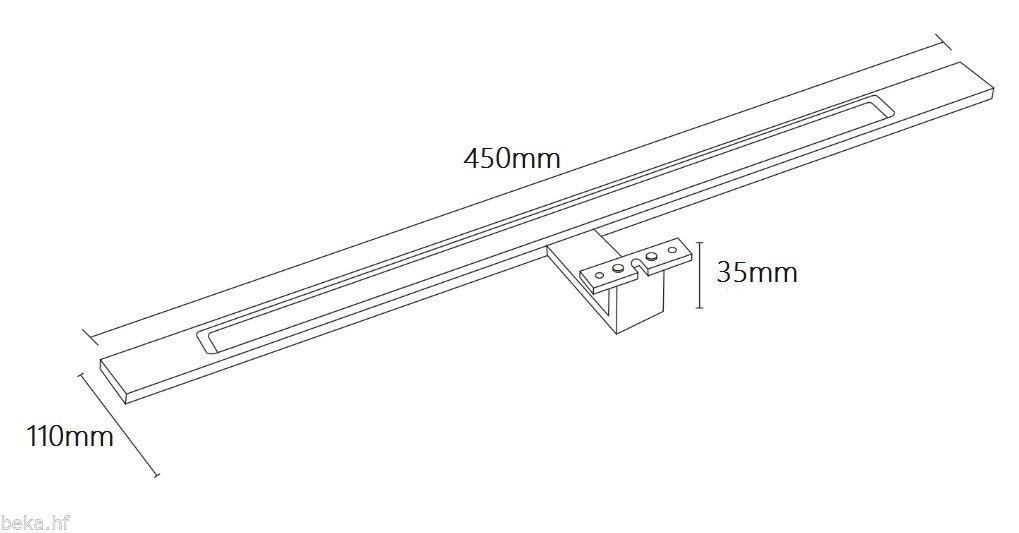 luminaria para el ba/ño led l/ámpara para el ba/ño l/ámpara para espejo luminaria para espejo l/ámpara de superficie 450 mm espejo