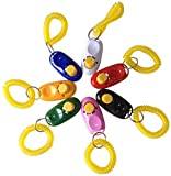 Ltuotu New Pet Puppy Cat Dog Button Click Clicker Training Obedience Aid Wrist Strap Hot Sale (24 Pack)