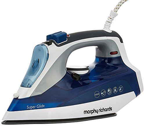Morphy Richards Super Glide 2000-Watt Steam Iron (White/Blue)
