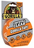 Gorilla Tape, Crystal Clear Duct Tape, 1.88  x 9 yd, Clear, (Pack of 2)