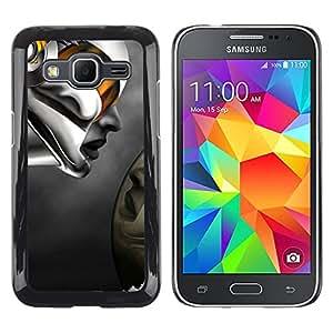 Shell-Star Arte & diseño plástico duro Fundas Cover Cubre Hard Case Cover para Samsung Galaxy Core Prime / SM-G360 ( Robot Abstract Woman )