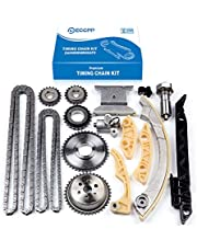 ECCPP Timing Chain Kit fit for Tensioner Guide Rail Crank Sprocket Replacement for Chevrolet Malibu for Equinox for Buick 2011-2015 2006-2013