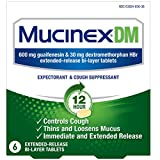 Mucinex DM 12-Hour Expectorant and Cough Suppressant Tablets, 6 Count (Pack of 10)