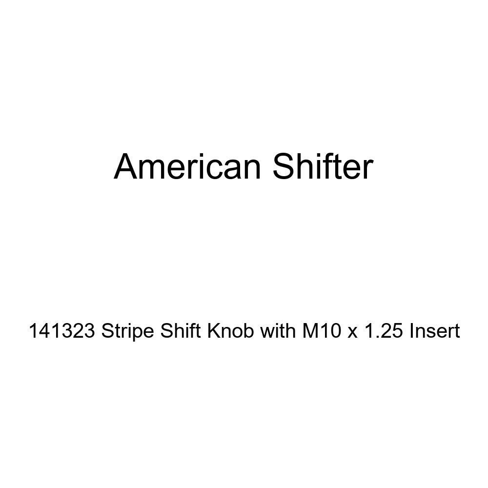 American Shifter 141323 Stripe Shift Knob with M10 x 1.25 Insert