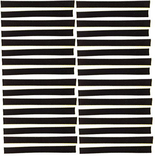 "32-Pack of Black Over-Sized VPI Machine/Nitty Gritty/Okki Nokki Replacement LP Vinyl Record Album Cleaning/Cleaner Strips Oversized 3/8"" x 4"" Velvet/Felt/3M Adhesive"