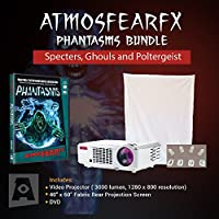Amosfearfx Phantasms 3000 Lumen Video Projector Bundle.Includes Projector, Dvd And Window Projection Screen.