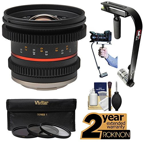 Rokinon 12mm T/2 2 Cine Wide Angle Lens with 2 Year Ext
