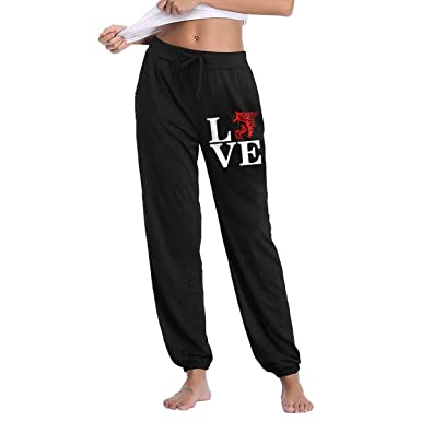 select for genuine top-rated latest hot-selling clearance Amazon.com: Womens Love Horses Flame Sweatpants with Pockets ...