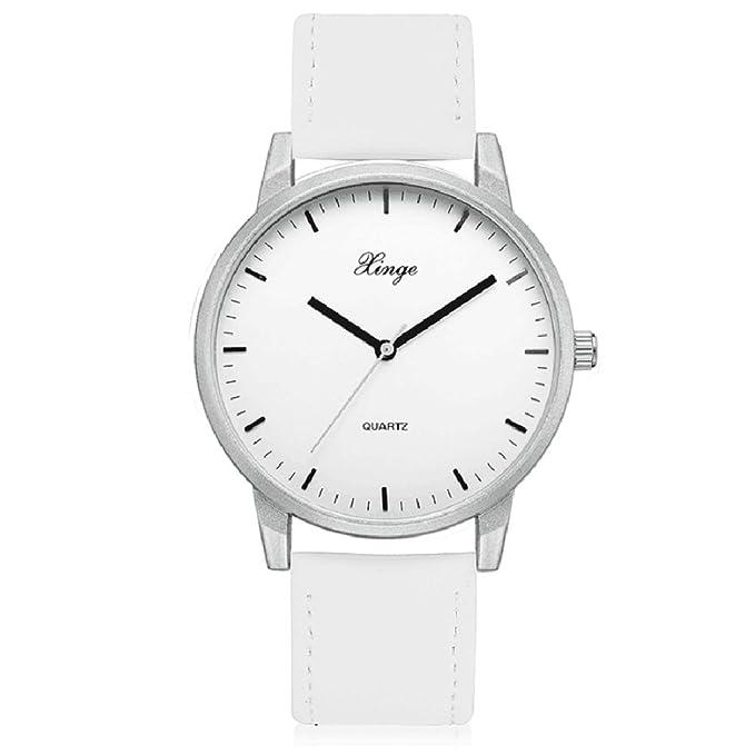 SamMoSon Relojes Hombre Resistentes Al Agua Mujer Azul Elegantes,Reloj De Pulsera Análogo De Cuarzo Simple Casual para Hombres Relojes De Pulsera: ...