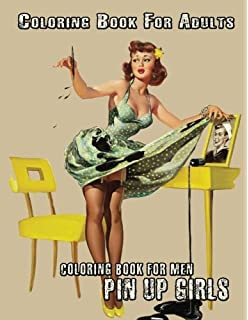 Vintage Pin-Up Girls: Adult Coloring Book: The Creativity Tree ...