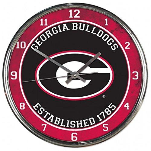 NCAA Georgia Bulldogs WinCraft Official Chrome Clock by NCAA