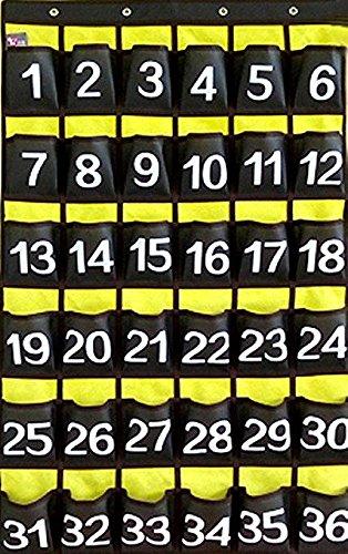 Cell Phone Classroom Holder Teachers Pocket Chart Brown 36 Pockets Pocket Standard Chart Holder
