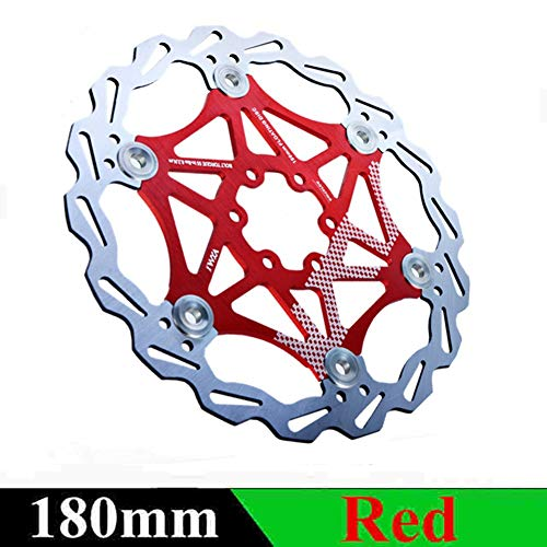 aXXcssqw9b MTB Road Bike Metal Float Floating Disc Brake Rotors Bicycle Parts 160/180/203mm Red 180mm