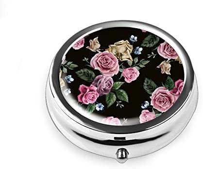 Three-Compartment Pill Box//Pill case Qien BaiSei Blossom Flowers Pill Box//Pill case-Round Pill Box//case
