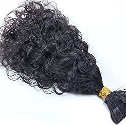 Hesperis Top Quality Virgin Unprocessed Human Hair Bulk Brazilian Curly Bulk Braiding Hair Extensions No Weft Fast Shipping 100g per bundle (16inch)