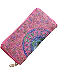 Womens Handbag Wallets Fashion Oxford Embroidery Wallets Clutch Purses Evening Bag Handbag on Sale Clearance