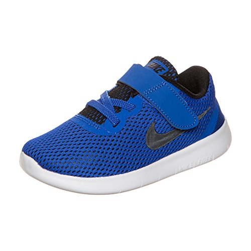 Nike Free Rn (Tdv), Zapatos de Primeros Pasos para Bebés Azul (Game Royal / Black-White)