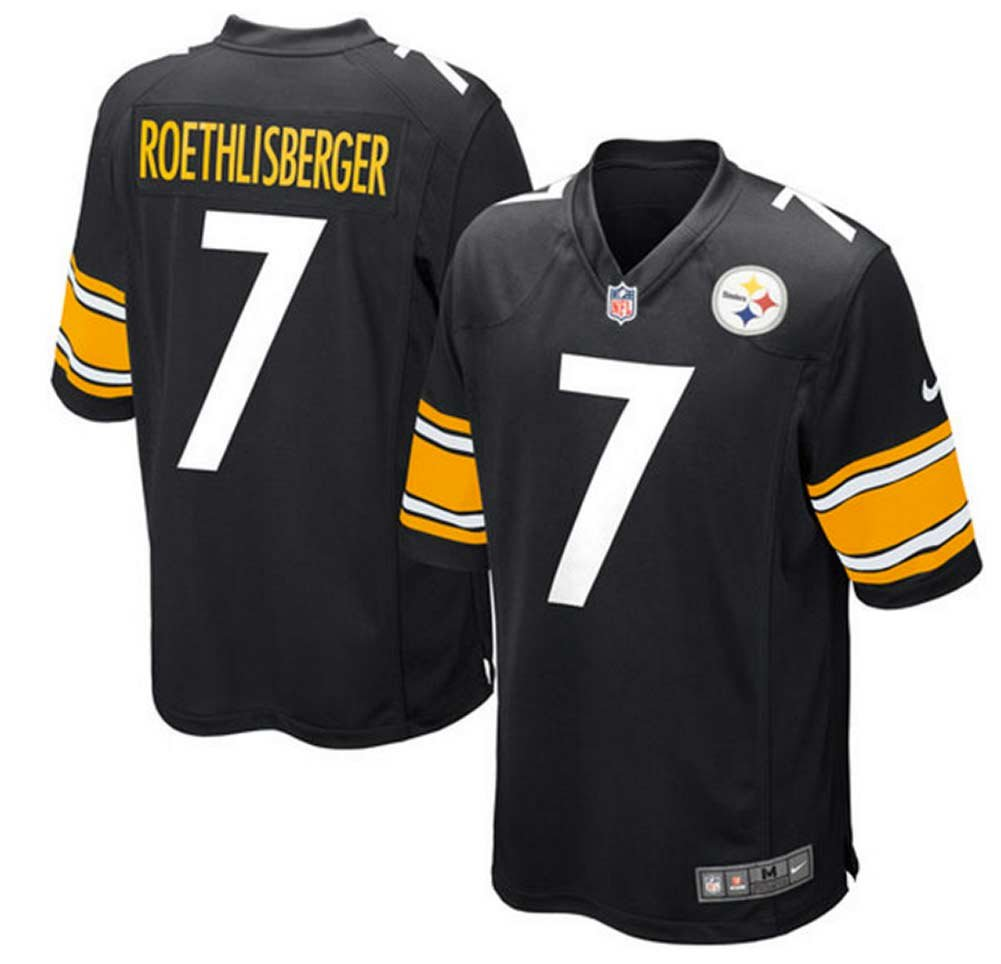 513374bee Outerstuff Ben Roethlisberger Pittsburgh Steelers  7 Black Kids Mid Tier  Home Jersey