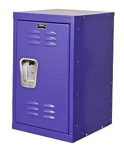 "Hallowell HKL151524-1PR Kid Mini Locker, 15"" Width x 15"" Depth x 24"" Height, Single Tier, 1-Wide, Knock-Down, 720 Pep Rally"