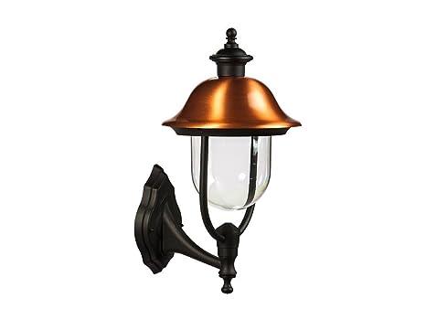 Lampione alluminio rame up applique lampada da esterno