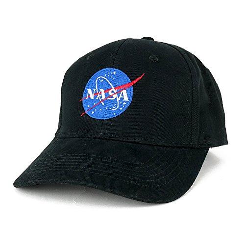 AC Racing NASA Insignia Logo Embroidered Deluxe Cotton Cap (One Size, - Cotton Cap Deluxe
