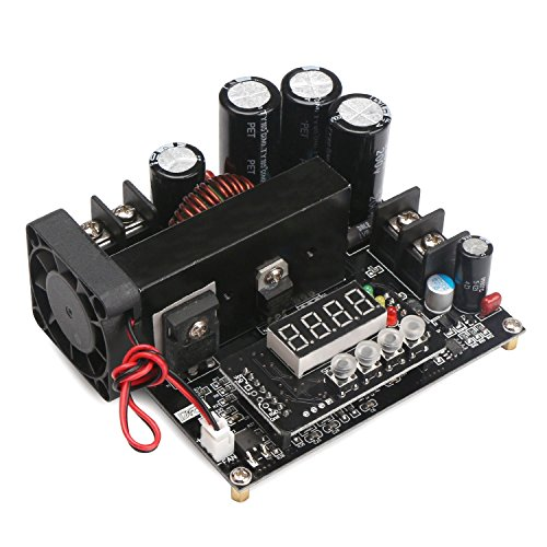 (Drok Numerical Control Regulator DC 8V-60V to 10V-120V 15A Boost Converter, Constant Step Up Module Adjustable Output 48V 24V 12V DC Power Supply with Led Display)