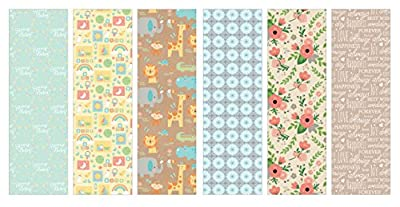 Pack of 6 Rolls of Wrapping Paper 6 Different Gift Wrap 8ft x 30in Rolls Included Assortment of Baby & Wedding Designs.