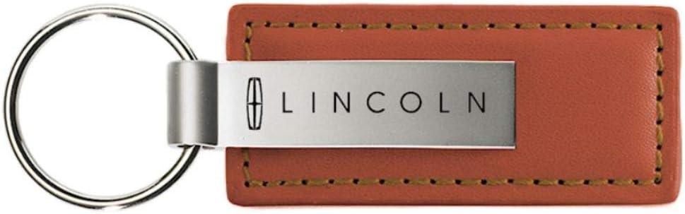 Lincoln Rectangular Brown Leather Key Chain MKZ iPick Image