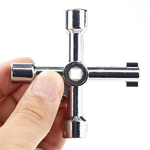 4 dans 1 pour la cl/é universelle de cl/é de triangle de valve darmoire dascenseur de train